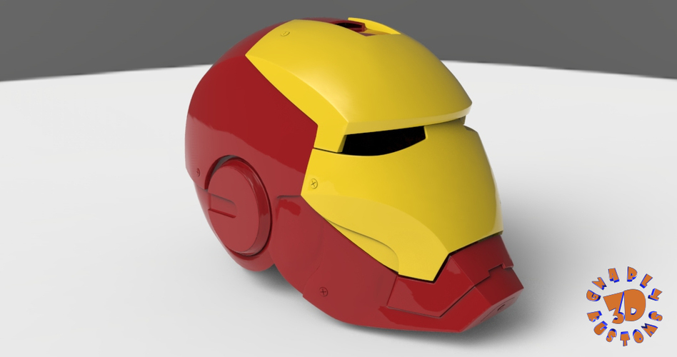 Iron Man Helmet (High Res) 3D Print 147281