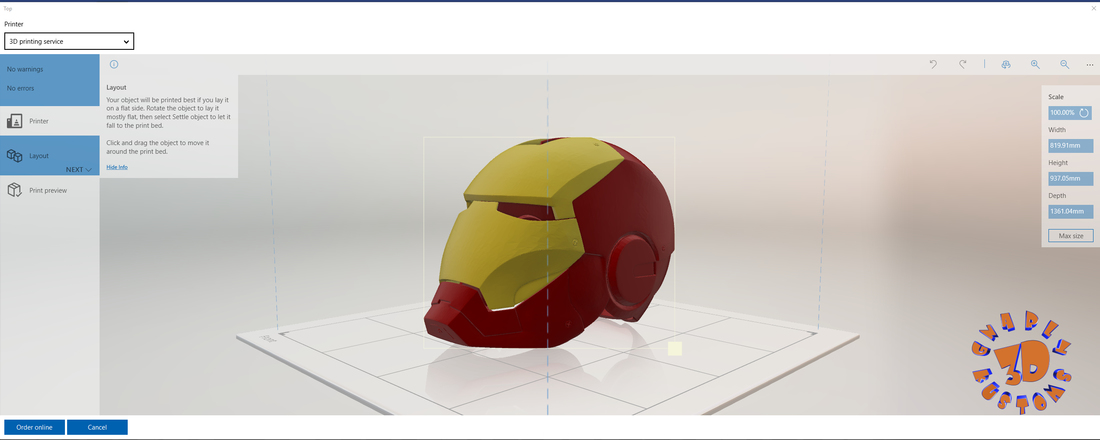 Iron Man Helmet (High Res) 3D Print 147282
