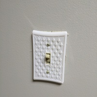 Small light switch cover 39XX 3D Printing 147299