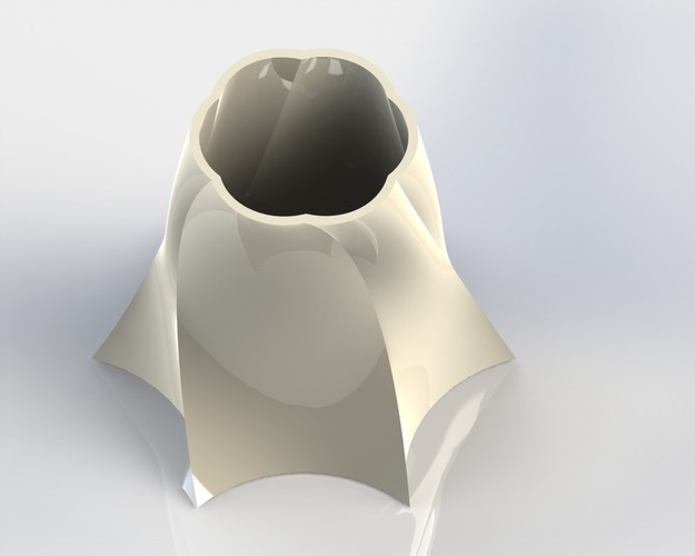 Vase out of shape 3D Print 147423