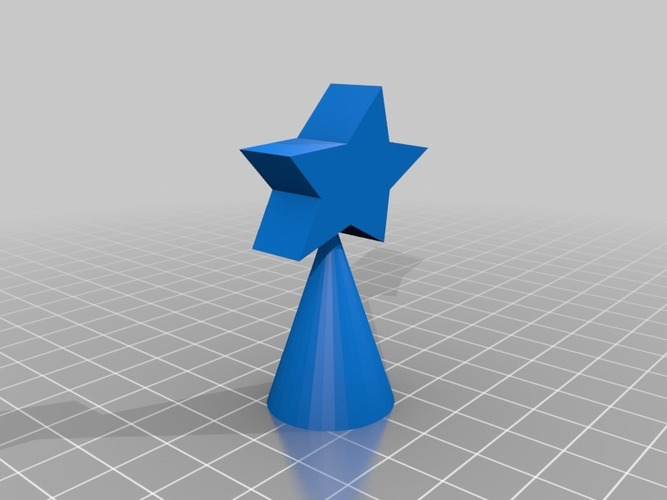 small christmas  tree star 3D Print 14749