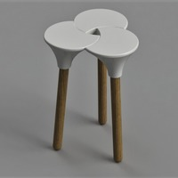 Small Cluster (the full sized) Stool 3D Printing 147494