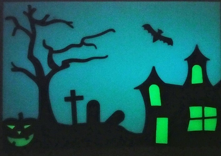 Halloween Glow in the dark window hanger 3D Print 147505