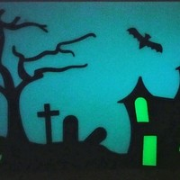 Small Halloween Glow in the dark window hanger 3D Printing 147505