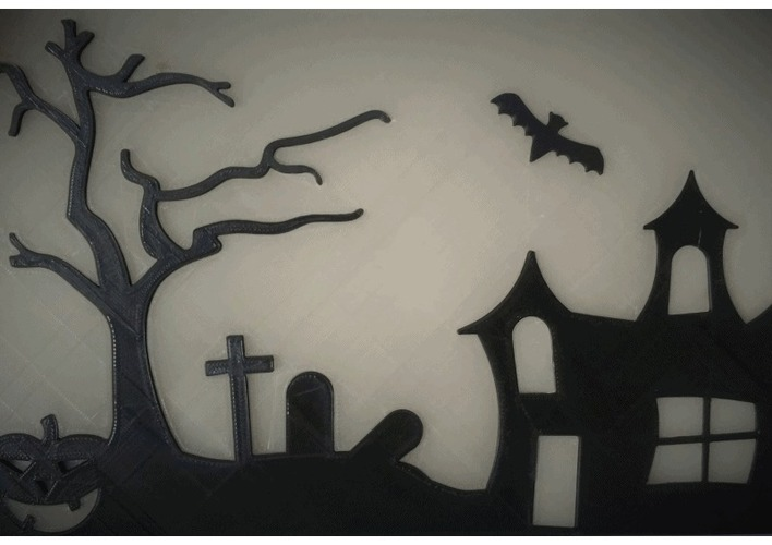 Halloween Glow in the dark window hanger 3D Print 147506
