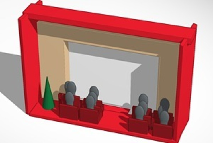 down in front Iphone movie theater christmas 3D Print 14757