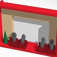 Small down in front Iphone movie theater christmas 3D Printing 14757
