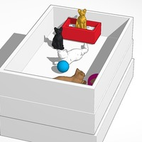 Small cat shop stand 3D Printing 14762