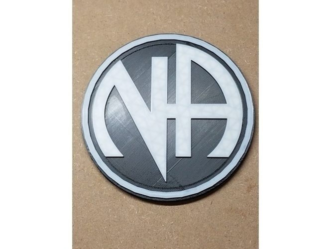 3D Printed NA Logo (Narcotics Anonymous) by tech_outreach73