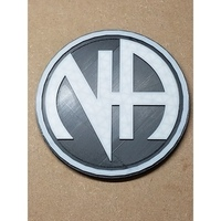 Small NA Logo (Narcotics Anonymous) 3D Printing 147626