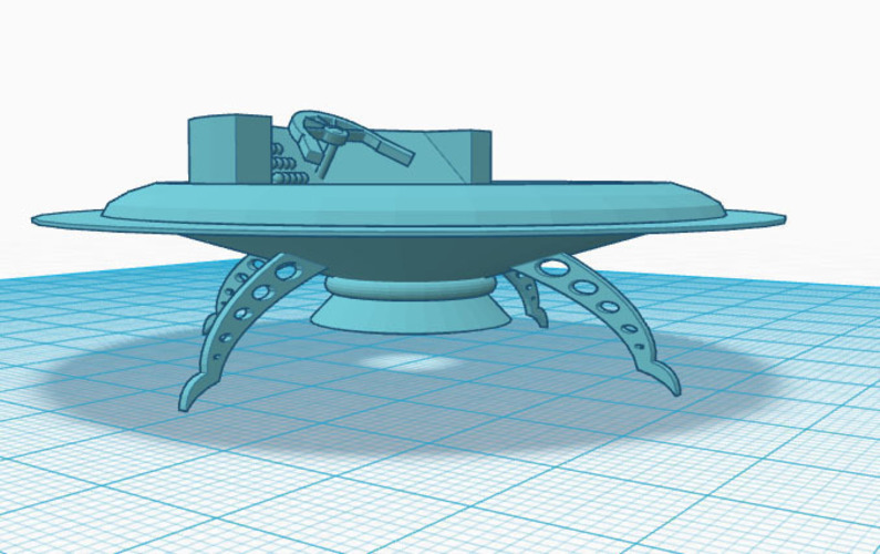 flying saucer base 3D Print 147628