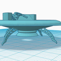 Small flying saucer base 3D Printing 147628