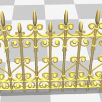 Small iron fence 3D Printing 147630