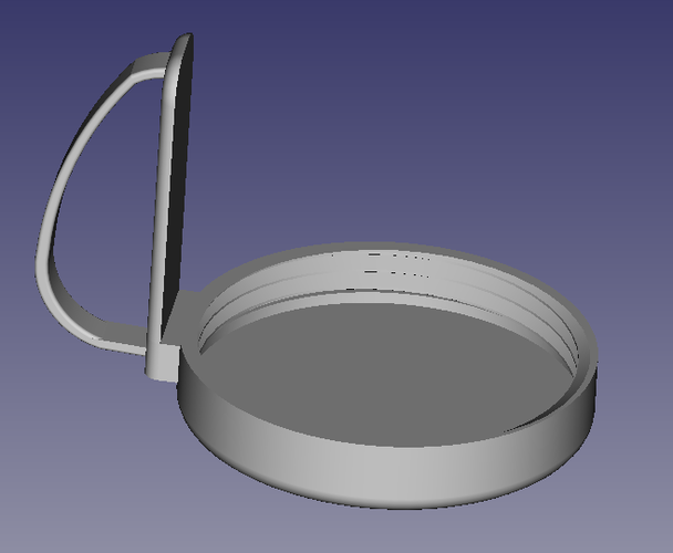 Nutribullet lid with handle 3D Print 147643