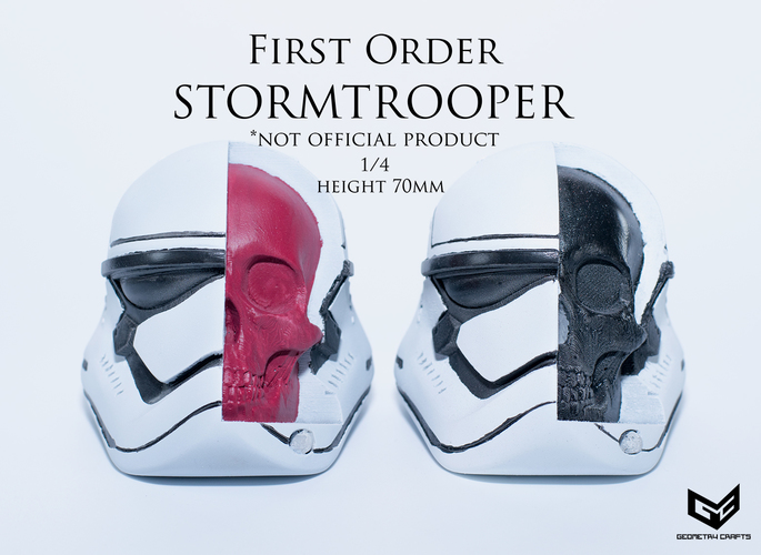 First Order Storm Trooper Skull 3D Print 147688