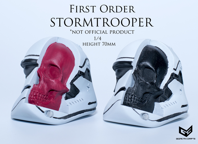 First Order Storm Trooper Skull 3D Print 147689