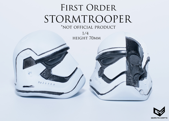 First Order Storm Trooper Skull 3D Print 147691
