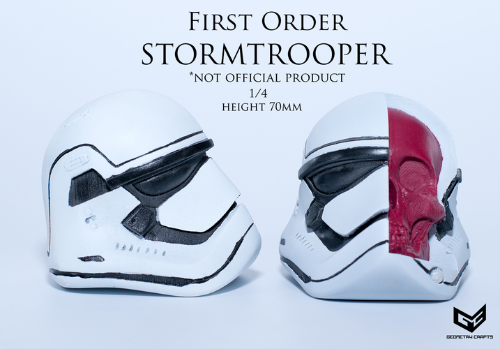 First Order Storm Trooper Skull 3D Print 147692