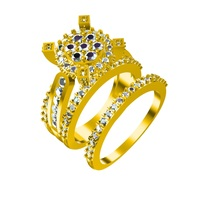 Small 3D CAD Model In STL File Format For Bridal Ring Set 3D Printing 147696