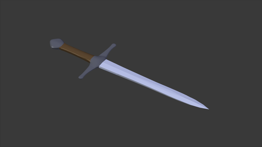 Simple Toy Sword 3D Print 147710