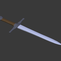 Small Simple Toy Sword 3D Printing 147710