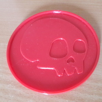 Small Coaster of a skull - 3 3D Printing 147713