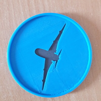 Small Plane Coaster 3D Printing 147719
