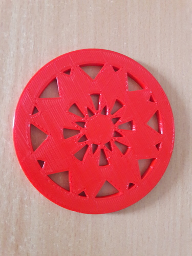 Coaster with star pattern 3D Print 147720