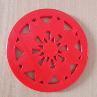 Small Coaster with star pattern 3D Printing 147720