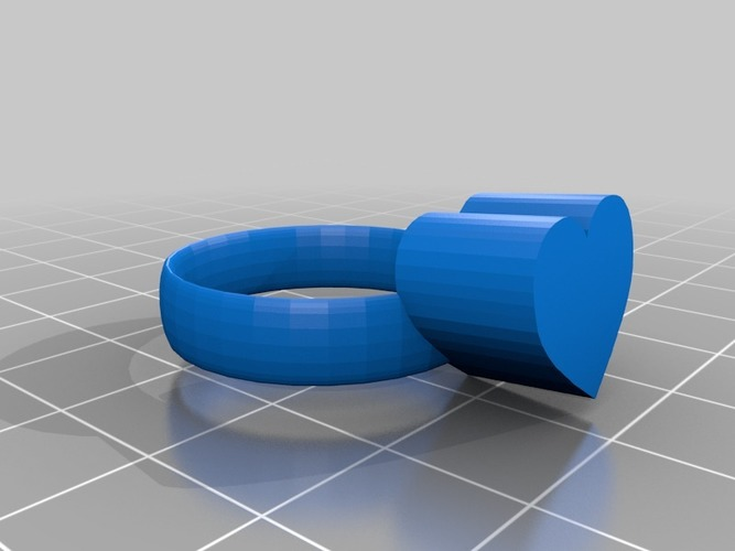 heart ring size 11 3D Print 14773