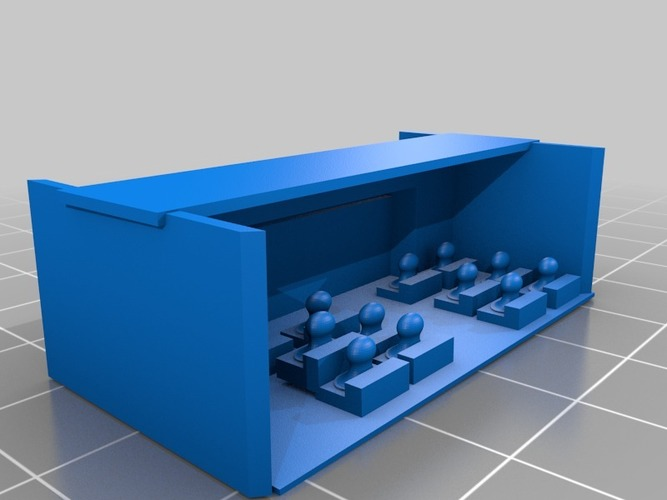 down in front movie theater model small 3D Print 14775