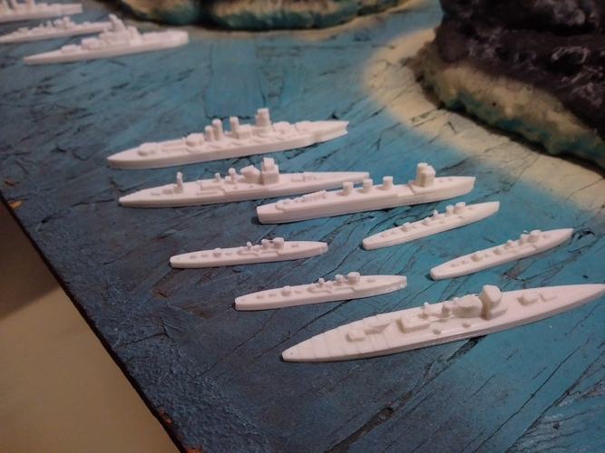 Battle of Guadalcanal Japanese Navy and US Navy 3D Print 147754