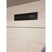 Small POLICE BOX sign 3D Printing 147759