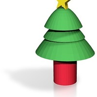 Small cartoon christmas tree 3D Printing 14780