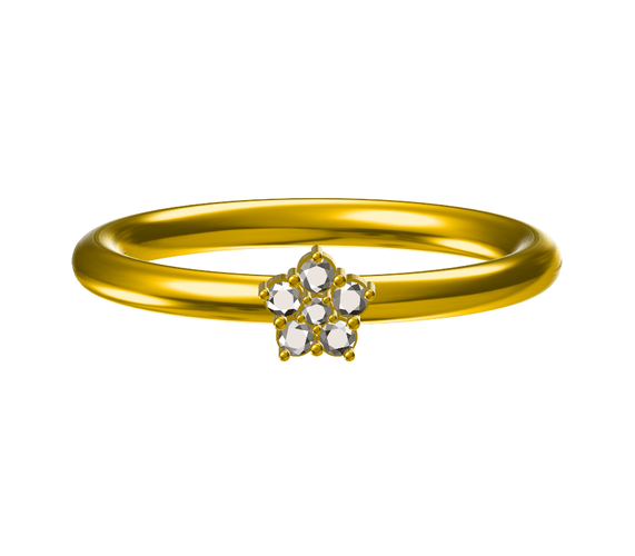 Free 3D CAD Model For Wedding RIng In STL Format 3D Print 147807