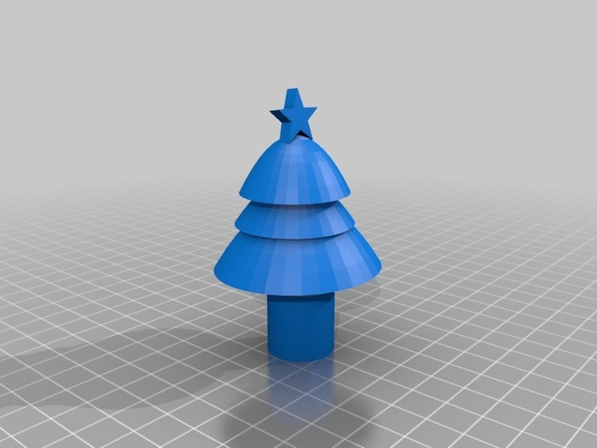 cartoon christmas tree 3D Print 14781