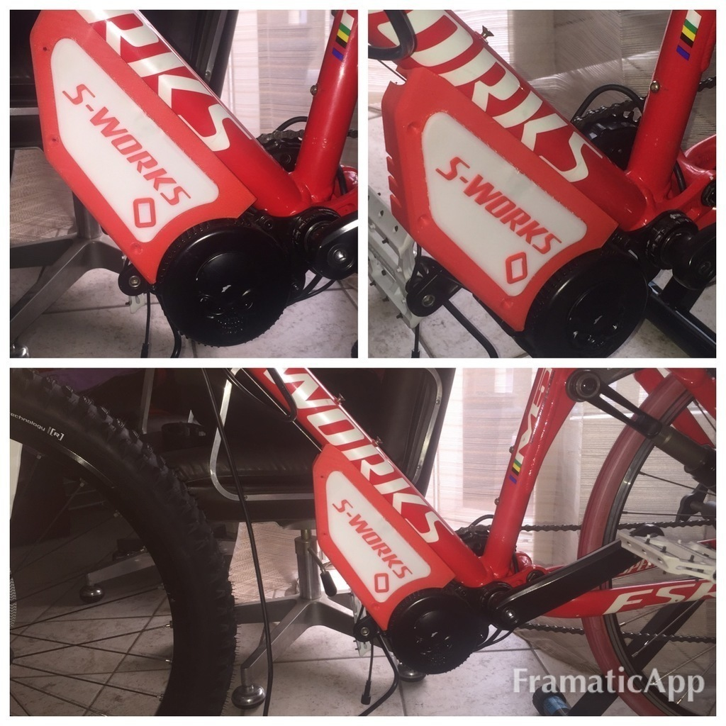 3D Printed Sub Frame Carter per Bafang BBS01 BBS02 specialized epic