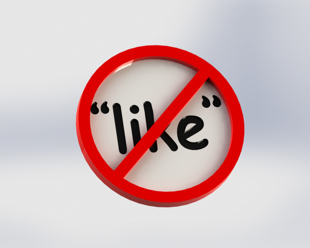 """like"" Prohibited 3D Print 147936"
