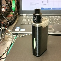 Small iJoy LUX Case (26650 Vape Mod) 3D Printing 147937