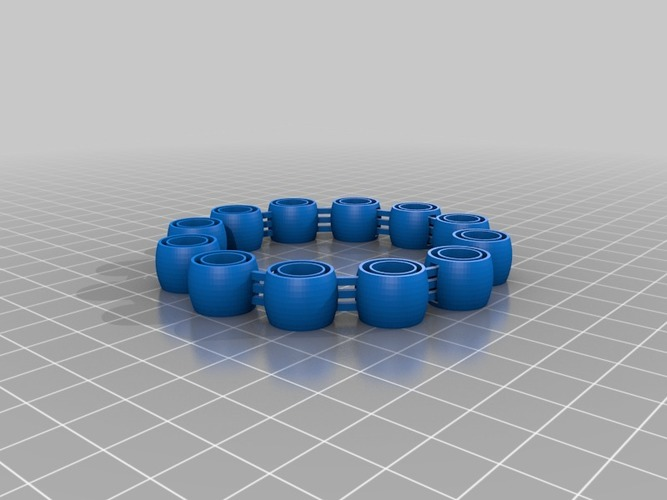 My Customized Comfortable, flexy, jingly bracelet 3D Print 14794