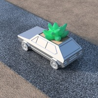 Small Volkswagen Golf GTI - Low Poly Planter 3D Printing 147941