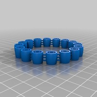 Small My Customized Comfortable, flexy, jingly bracelet (1) 3D Printing 14795
