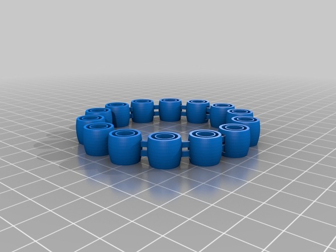 My Customized Comfortable, flexy, jingly bracelet (1) (1) 3D Print 14796