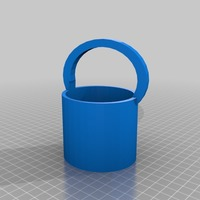 Small bucket, basket or vase 3D Printing 14799