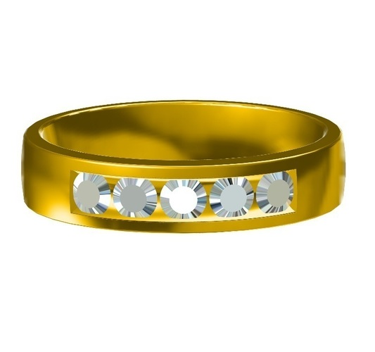 Womens Wedding Band 3D CAD File In STL Format 3D Print 148087