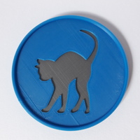 Small Cat Coaster 3D Printing 148114