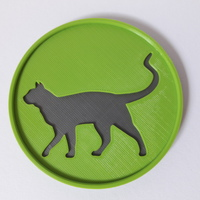 Small Cat Coaster 3D Printing 148115