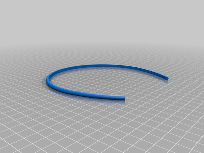 3D Printed My Customized Hair Band (1) by NeoQueenSarenity
