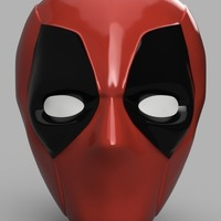 Small Deadpool Mask 3D Printing 148207