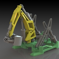 Small Hydraulic Excavator 3D Printing 148219